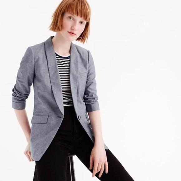 96d39dd6 J. Crew Jackets & Blazers - Women's unstructured cotton – linen blazer.